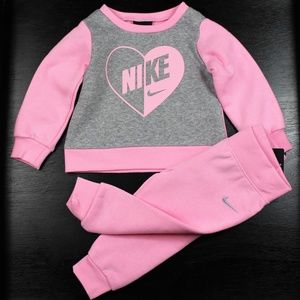 Nike Girl's 2 Piece Tracksuit Set Sweatshirt/Pants